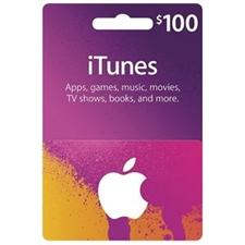 تصویر گیفت کارت اپل آیتیونز | صد دلاری