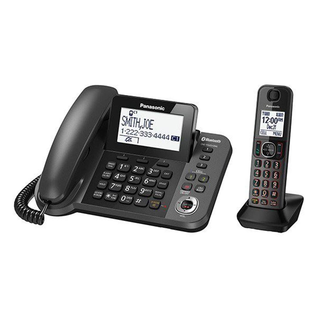تصویر تلفن بی سیم پاناسونیک مدل KX-TGF380 | تکخط، منشیتلفنی