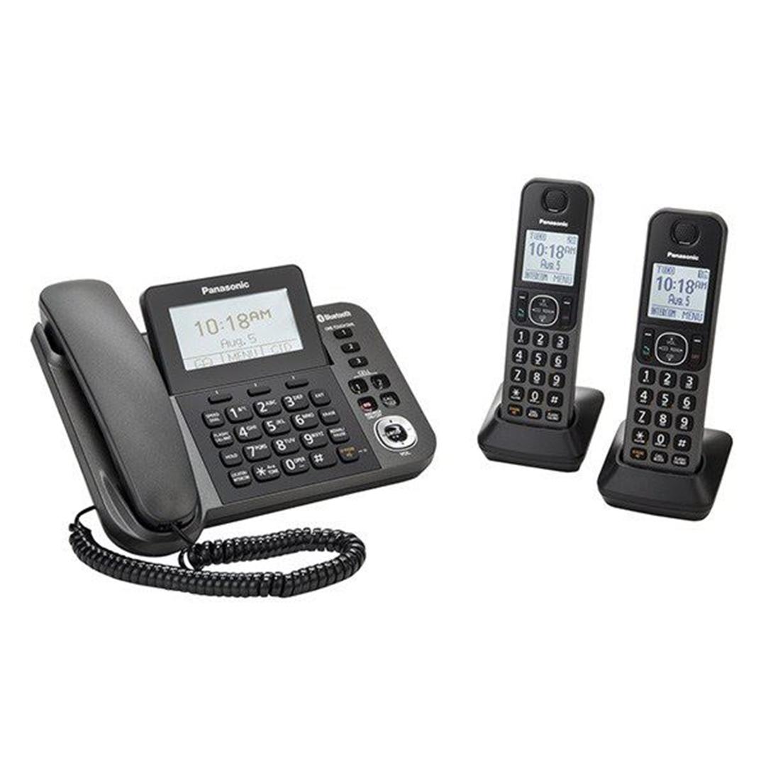 تصویر تلفن بیسیم پاناسونیک مدل KX-TGF382 | بیسیم، تکخط، منشیتلفنی
