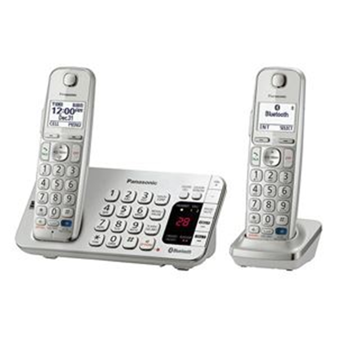 تصویر تلفن بیسیم پاناسونیک مدل KX-TGE272 | بیسیم، تکخط، منشیتلفنی