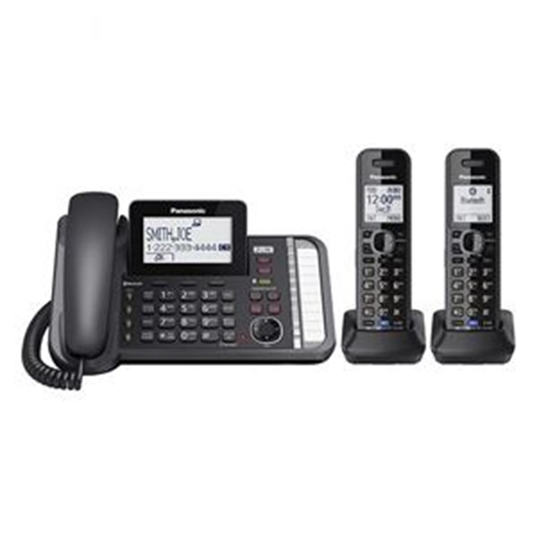 تصویر تلفن بی سیم پاناسونیک مدل KX-TG9582 | دوخط، منشیتلفنی