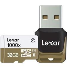 تصویر کارتحافظه microSDHC لکسار مدل Professional | ظرفیت 32 گیگابایت، کلاس 10، استاندارد UHS-II U3، سرعت 1000X