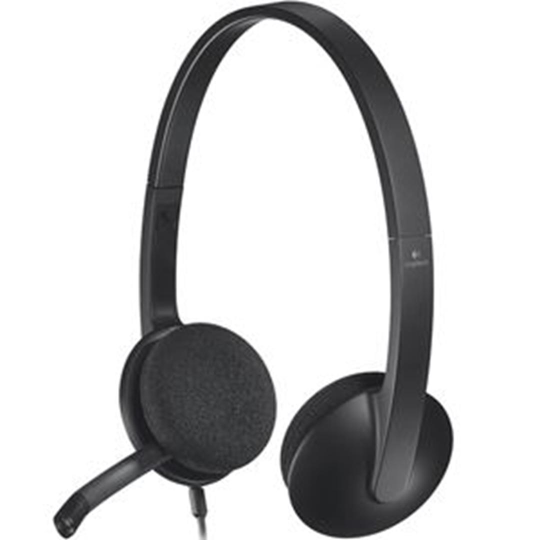 تصویر هدست باسیم لاجیتک مدل H340 | روی گوش