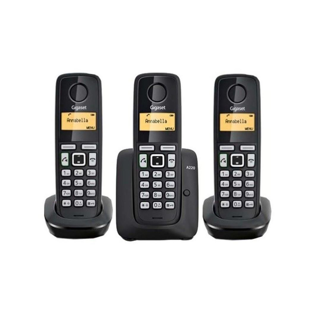 تصویر تلفن گیگاست مدل A220 Trio   بیسیم، تکخط