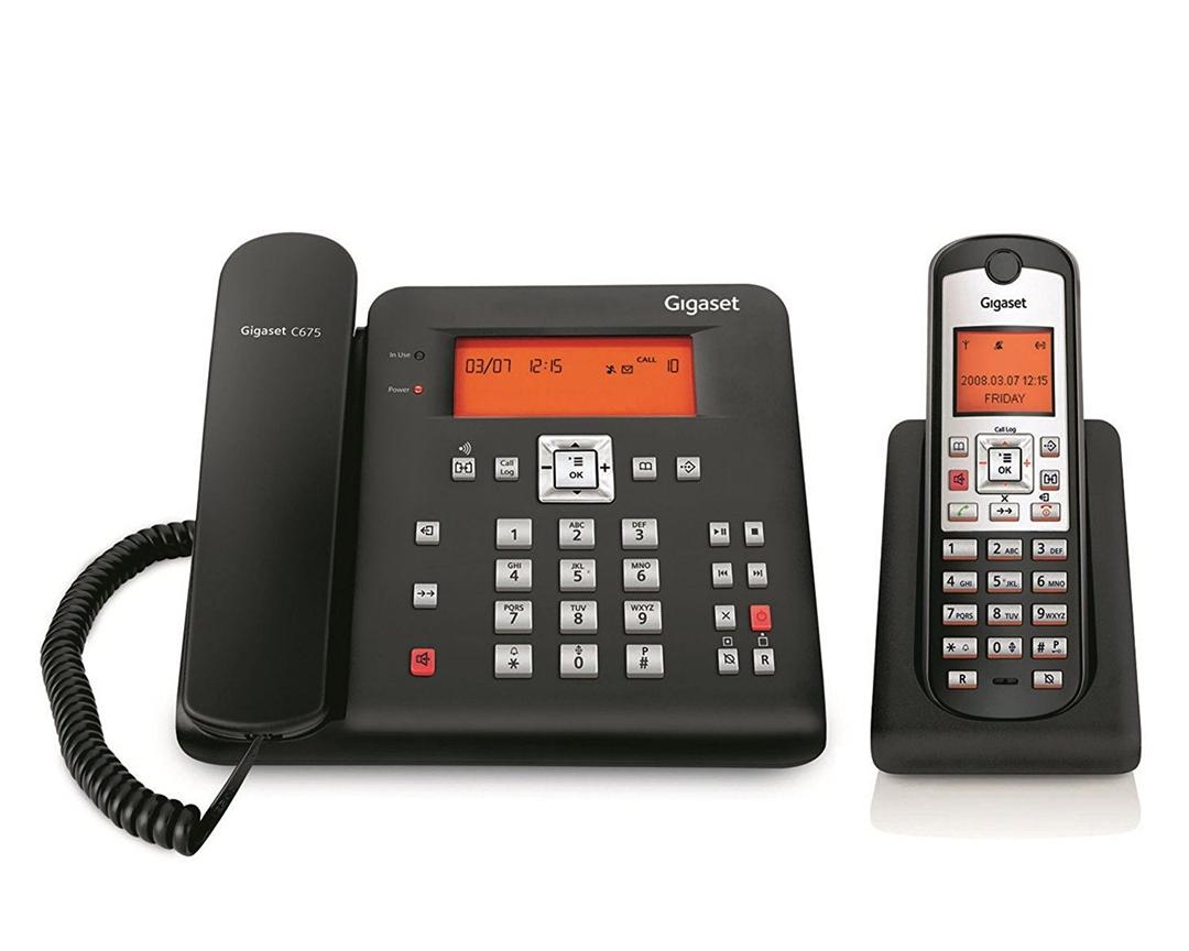 تصویر تلفن گیگاست مدل C675   باسیم، تکخط، منشیتلفنی