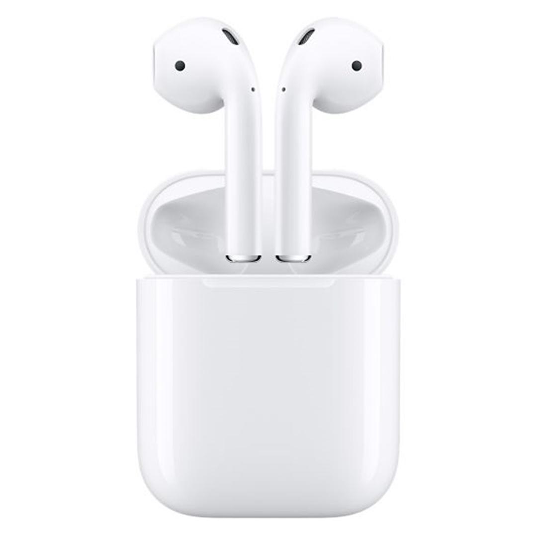 تصویر هدفون بیسیم اپل مدل AirPods   داخل گوش