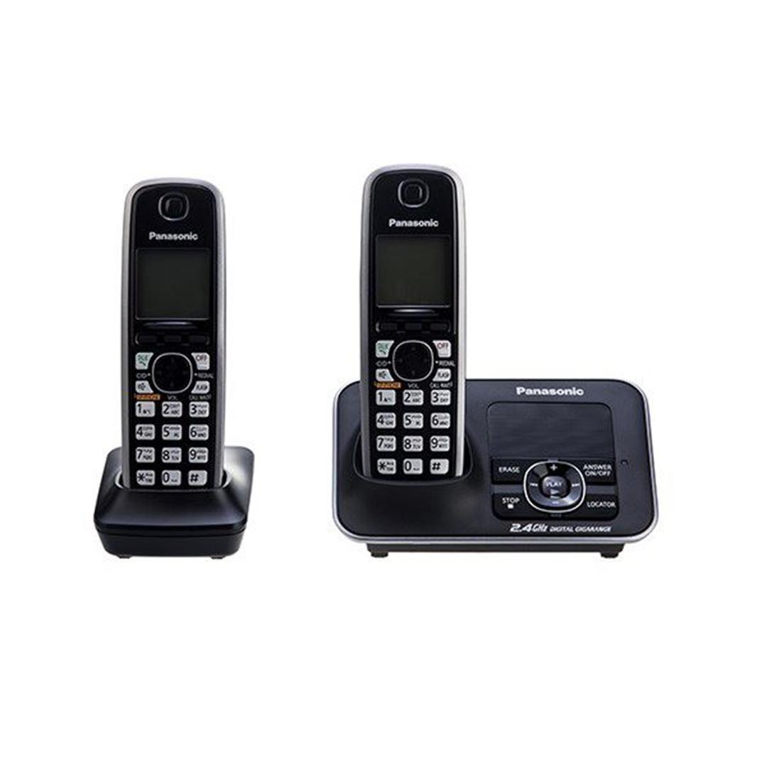 تصویر تلفن بی سیم پاناسونیک مدل KX-TG3722   تکخط، منشیتلفنی