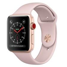 تصویر ساعتهوشمند Apple Watch اپل سری 3 سلولار | بدنه آلومینیوم طلایی، بند اسپورت صورتی، 38 میلیمتر