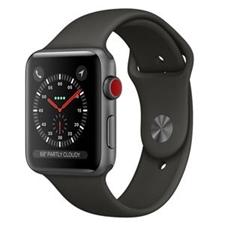 تصویر ساعتهوشمند Apple Watch اپل سری 3 سلولار | بدنه آلومینیوم خاکستری، بند اسپورت مشکی، 42 میلیمتر