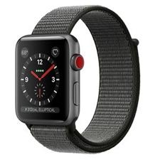 تصویر ساعتهوشمند Apple Watch اپل سری 3 سلولار | بدنه آلومینیوم خاکستری، بند اسپورت خاکستری، 42 میلیمتر