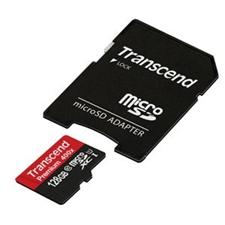 تصویر کارت حافظه microSDXC ترنسند مدل Premium | ظرفیت 128 گیگابایت، کلاس 10، استاندارد UHS-I، سرعت 400X