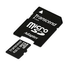 تصویر کارت حافظه microSDHC ترنسند مدل کلاس 4 | ظرفیت 4 گیگابایت، کلاس 4