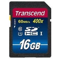 تصویر کارت حافظه SDHC ترنسند مدل Premium | ظرفیت 16 گیگابایت، کلاس 10، استاندارد UHS-I U1، سرعت 400X