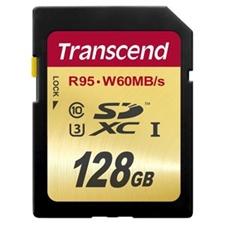 تصویر کارت حافظه SDXC ترنسند مدل Ultimate | ظرفیت 128 گیگابایت، کلاس 10، استاندارد UHS-I U3، سرعت 633X
