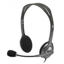 تصویر هدست باسیم لاجیتک مدل H110 | روی گوش