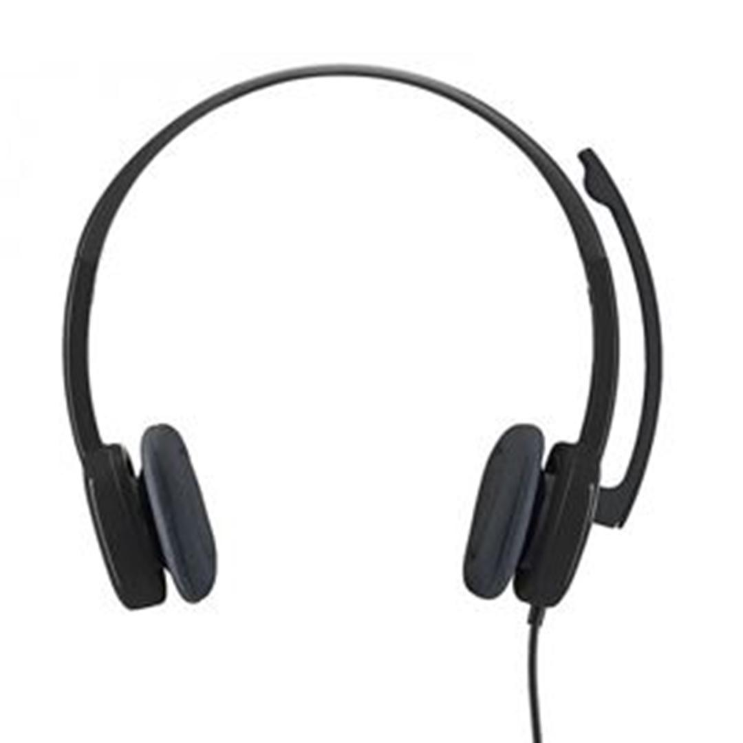 تصویر هدست باسیم لاجیتک مدل H151 | روی گوش