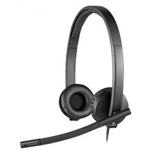 تصویر هدست باسیم لاجیتک مدل H570e | روی گوش
