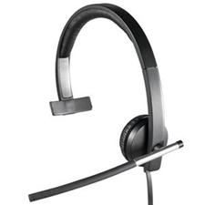 تصویر هدست باسیم لاجیتک مدل H650e | روی گوش