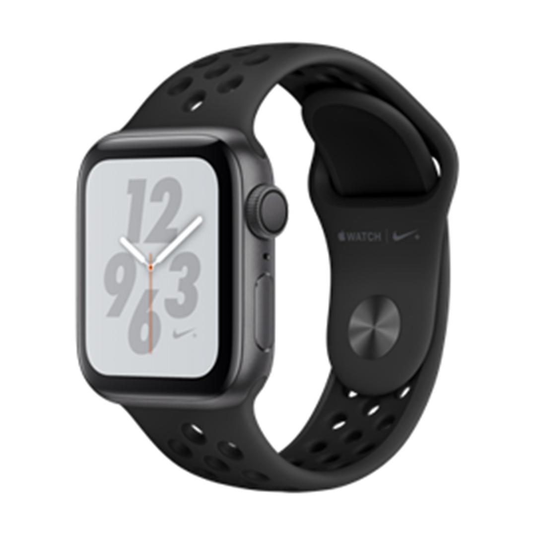 تصویر ساعتهوشمند اپل Apple Watch سری 4 Nike+ GPS | بدنه آلومینیوم خاکستری، بند اسپورت مشکی، 40 میلیمتر