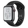 تصویر ساعتهوشمند اپل Apple Watch سری 4 Nike+ GPS + Cellular   بدنه آلومینیوم خاکستری، بند اسپورت مشکی، 44 میلیمتر