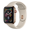 تصویر ساعتهوشمند اپل Apple Watch سری 4 GPS + Cellular | دنه استیل طلایی، بند اسپورت، 44 میلیمتر