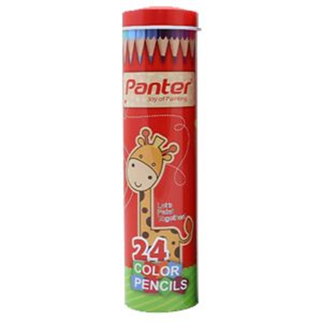 تصویر مداد رنگی استوانه ای 24 رنگ پنتر |  7 inch