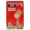تصویر مداد رنگی 12 رنگ پنتر | جعبه فلزی