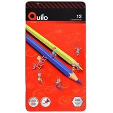 تصویر مداد رنگی 12 رنگ کوییلو | جعبه فلزی