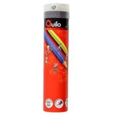 تصویر مداد رنگی 24 رنگ کوییلو | جعبه فلزی استوانه