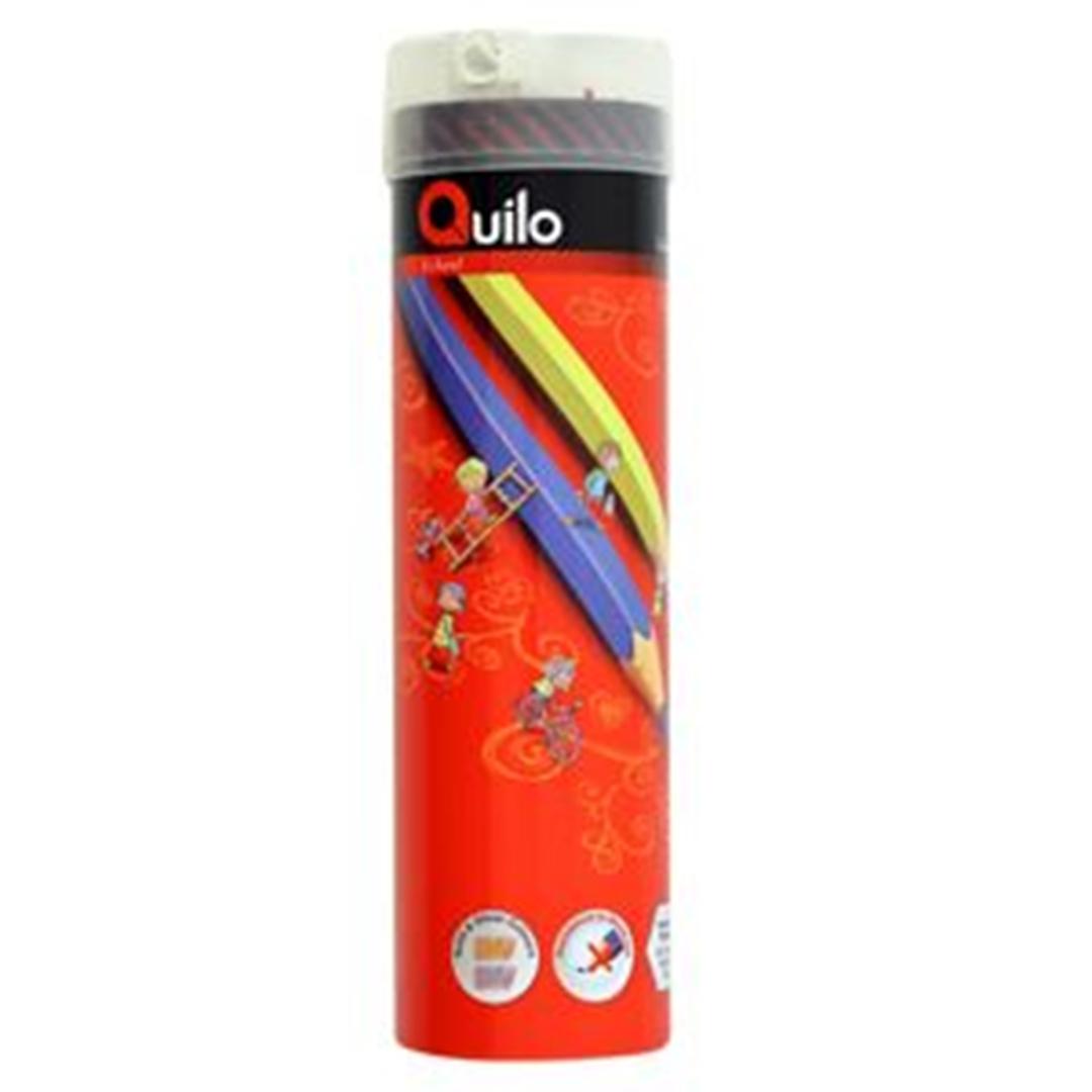 تصویر مداد رنگی 36 رنگ کوییلو | جعبه فلزی استوانه
