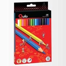 تصویر مداد رنگی 36 رنگ کوییلو | جعبه مقوایی