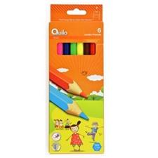 تصویر مداد رنگی 6 رنگ کوییلو مدل جامبو | جعبه مقوایی