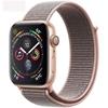 تصویر ساعتهوشمند اپل Apple Watch سری 4 GPS | بدنه آلومینیوم طلایی، بند اسپورت صورتی، 44 میلیمتر