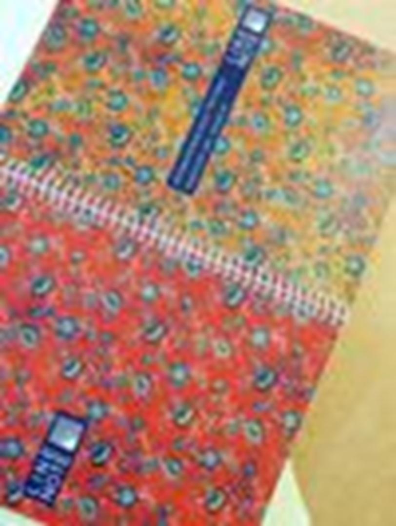 تصویر دفتر صد برگ لاین نوت وزیری طرح گل 1