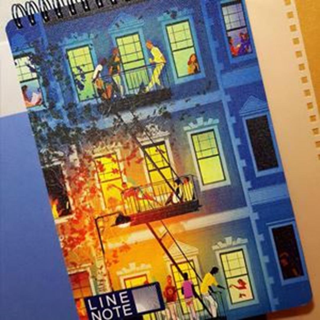 تصویر دفتر لاین نوت A5 طرح Home