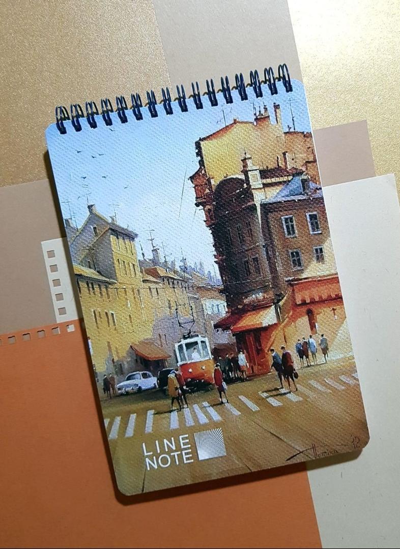 تصویر دفتر لاین نوت A5 طرح شهر 3