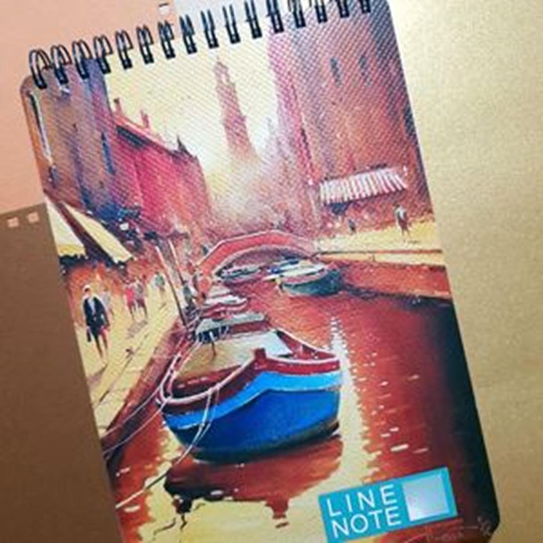 تصویر دفتر لاین نوت A5 طرح 5 Port