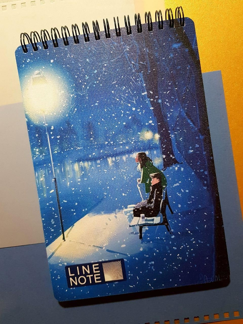 تصویر دفتر لاین نوت A5 طرح Snow