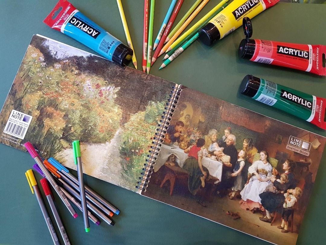 تصویر دفتر طراحی 60 برگ لاین نوت A4 طرح Family