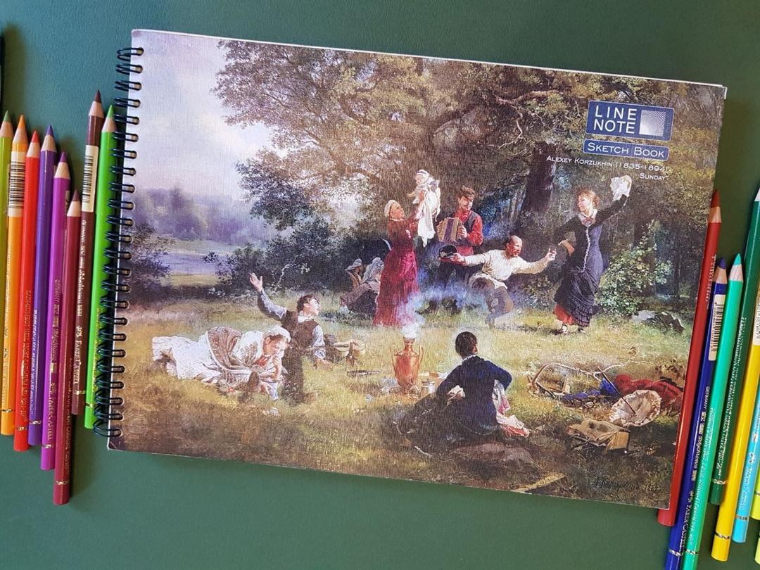 تصویر دفتر طراحی 60 برگ لاین نوت A4 طرح Family2
