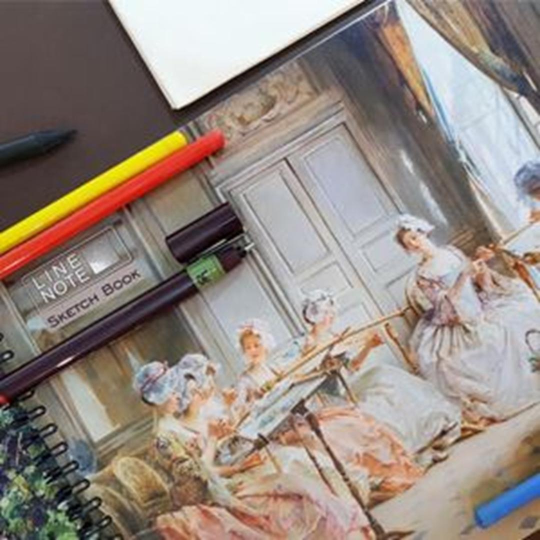 تصویر دفتر طراحی 60 برگ لاین نوت A4 طرح Womens
