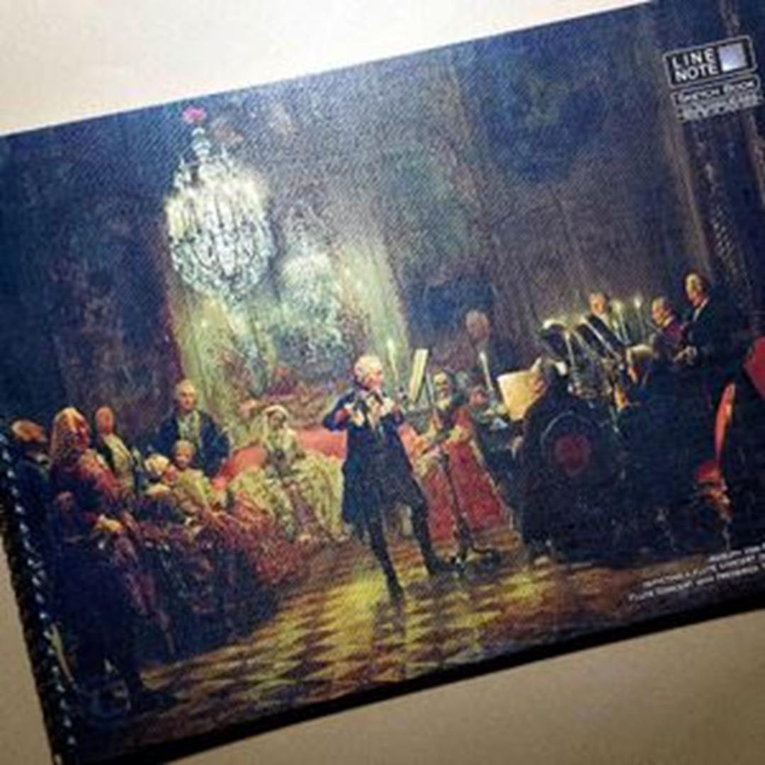 تصویر دفتر طراحی 60 برگ لاین نوت A3 طرح Concert