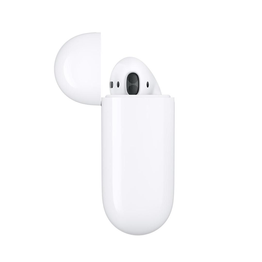 تصویر هدفون بیسیم اپل مدل AirPods 2 با کیس شارژ وایرلس | داخل گوش