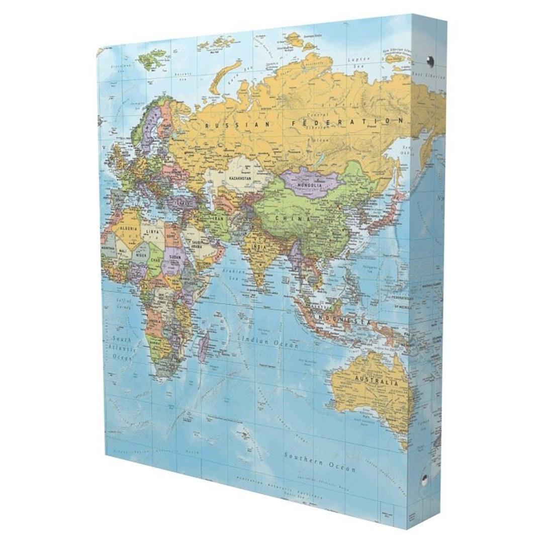 تصویر دفتر کلاسوری مستر نوت طرح نقشه جهان | صد برگ