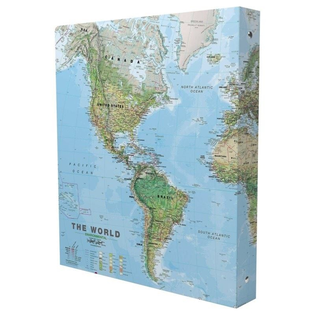 تصویر دفتر کلاسوری مستر نوت طرح نقشه جهان 2 | صد برگ