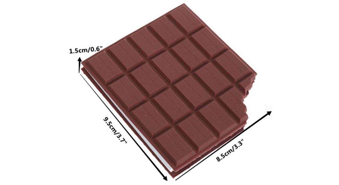 تصویر دفترچه یادداشت طرح شکلاتی