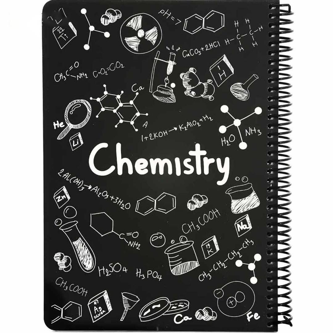تصویر دفتر مشق شیمی طرح فرمول دات نوت | 100 برگ