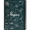 تصویر دفتر مشق فیزیک طرح فرمول دات نوت | 100 برگ