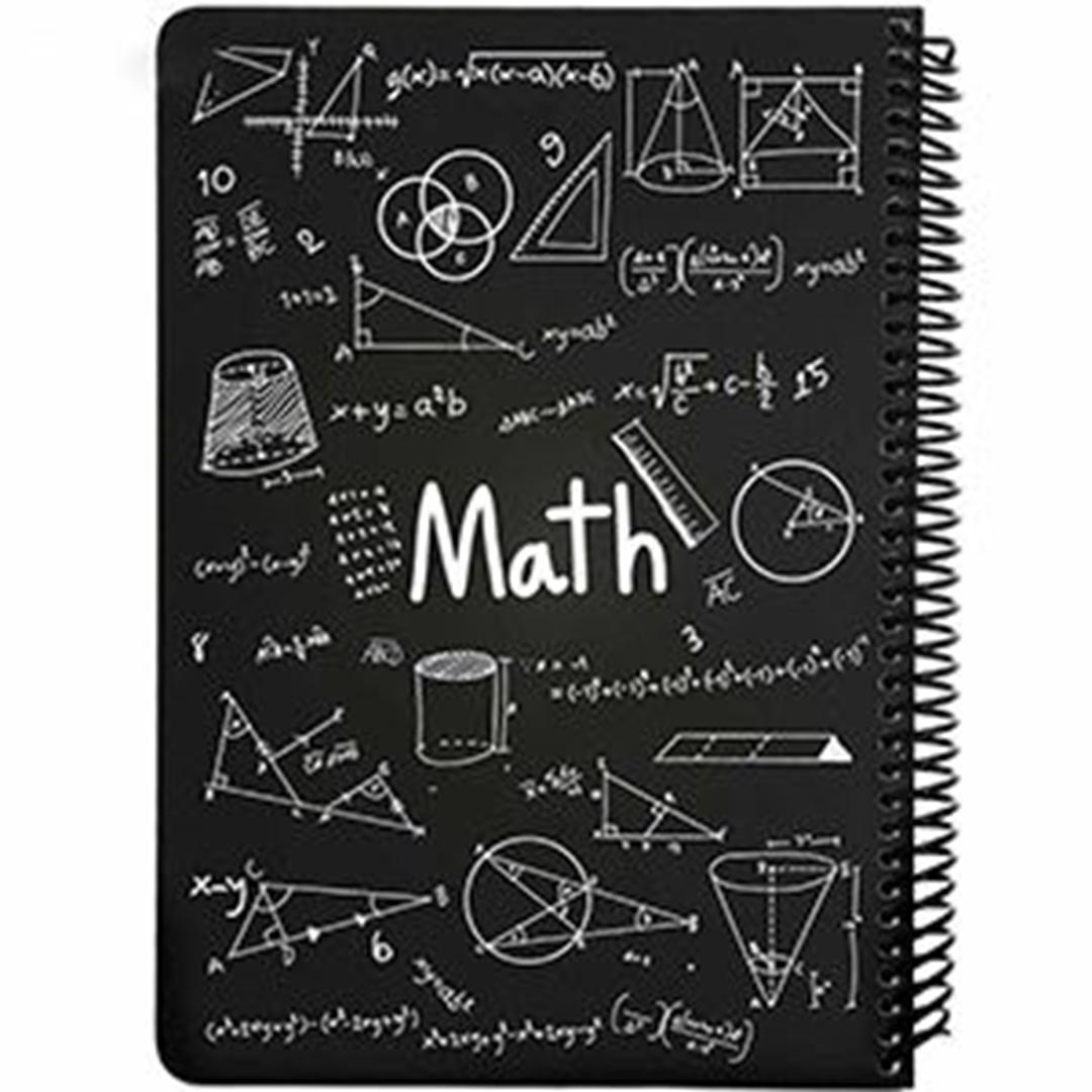 تصویر دفتر مشق ریاضی طرح فرمول دات نوت | 100 برگ