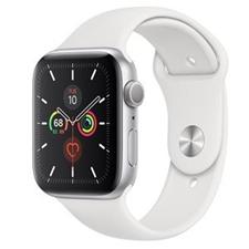 تصویر ساعتهوشمند اپل Apple Watch سری 5 GPS | بدنه آلومینیوم نقرهای، بند اسپورت سفید، 44 میلیمتر
